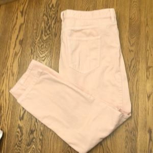 Pink boyfriend jeans